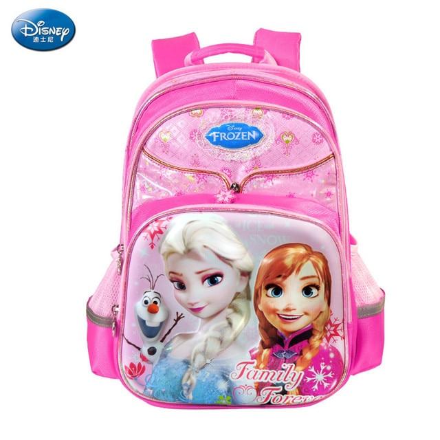 aa0c6bb6e7e5 Disney Frozen Princess Children Backpack High Quality School Bags for Girls  Cartoon Schoolbag Ultralight Kids Satchel Grade 1-5