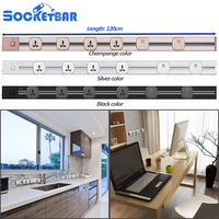 smart home Overload protection 120cm track socket any combination Office desk 220v usb phone electric plug power socket with usb