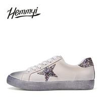 Hemmyi 2017 Autumn New Arrival Genuine Leather Women S Shoes Fashion Design Tenis Feminino Casual Superstar