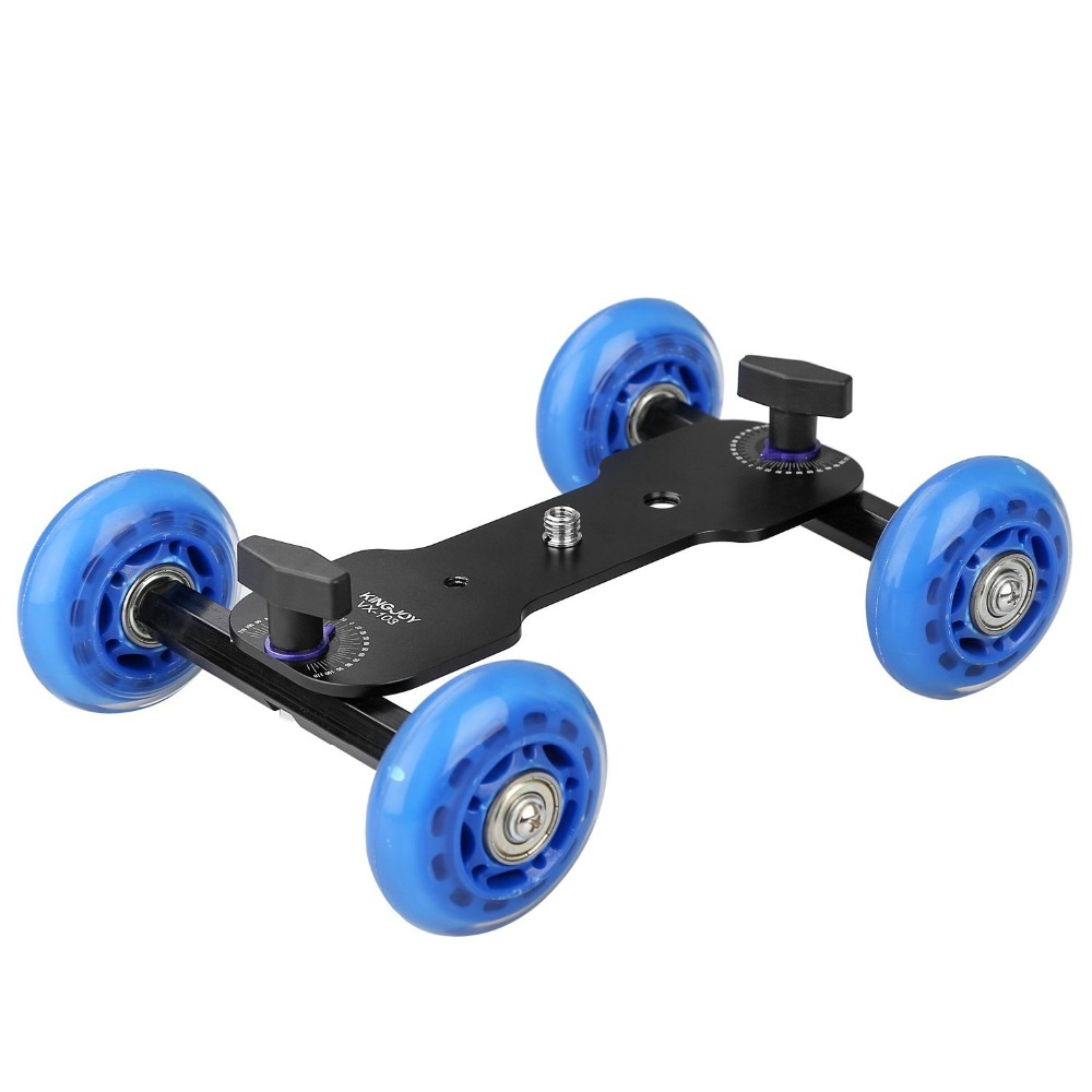 Tabletop Smart Phone Rolling Slider Dolly Car with 4-wheel,Video Track Rail for Speedlite DSLR Camera Camcorder Rig VX-103 flexible electric dolly 3 wheel pulley car rail rolling track slider skater dolly for dslr camera camcorder smart phone max 6kg