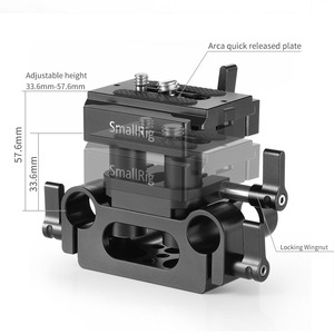 Image 4 - SmallRig DSLRกล้องแผ่นวงเล็บสากล 15 มม.รองรับระบบQuick Releaseแผ่นArcaปรับได้สูง 2272