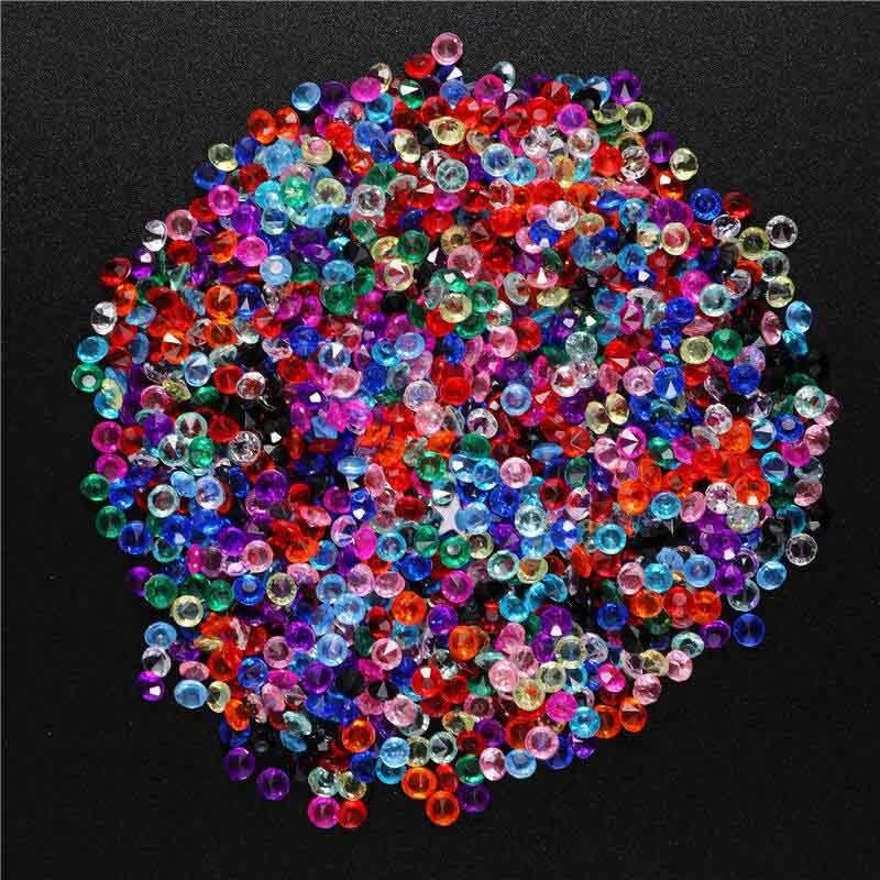 1000 шт 3,8 мм акриловое конфетти с бриллиантами для свадебной вечеринки, праздничное украшение, прозрачные кристаллы, украшение для рукоделия, 62463 - Цвет: 2PD-62463-20