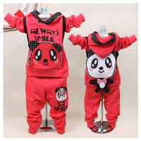 1PC spring and paragraph 2013 new panda backpack Korean boy girl child sport suit baby Free Shipping in stock