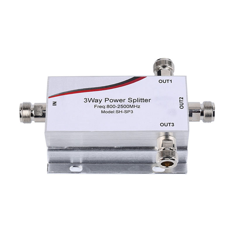 1PCS New 800~2500MHz N 3-way RF Power Divider Splitter For GSM&CDMA&DCS 3G 4G Cell Phone Signal Repeater