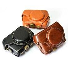Высокое качество из искусственной кожи Камера сумка для Sony RX100 RX100II RX100III M2 M3 II III IV V с кожаным ремешком Камера сумки 3 цвета