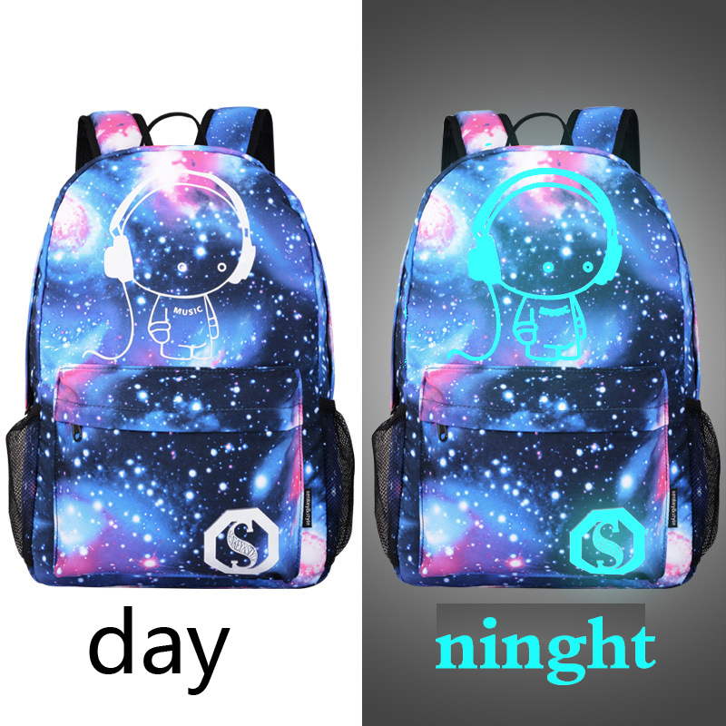 Korean Superstar Leisure Unsex Light Backpack Canvas Cartoon Bagpack High School Travel Laptop Bag for Teenagers Rucksack Shiny new canvas backpack travel bag korean version school bag leisure backpacks for laptop 14 inch computer bags rucksack