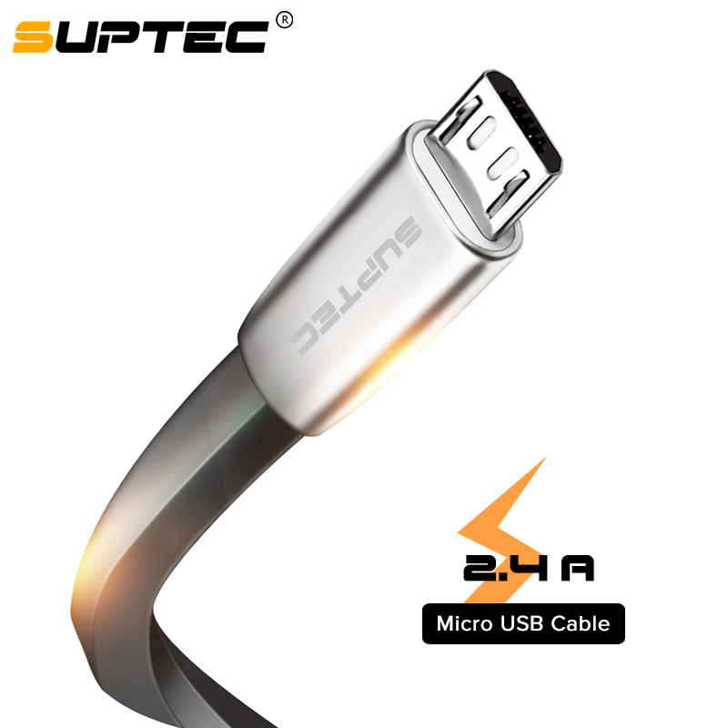 SUPTEC Micro USB Cable Zinc Alloy Flat Ultra Durable Data Transmission Android USB Cable for Samsung Xiaomi Huawei Microusb Cord|Mobile Phone Cables| |  - AliExpress