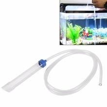 Aquarium Fish Vacuum Gravel Water Filter Cleaner Siphon Pump Manual Cleaner Pump Safe Vacuum 1.8m Aquarium Accessories