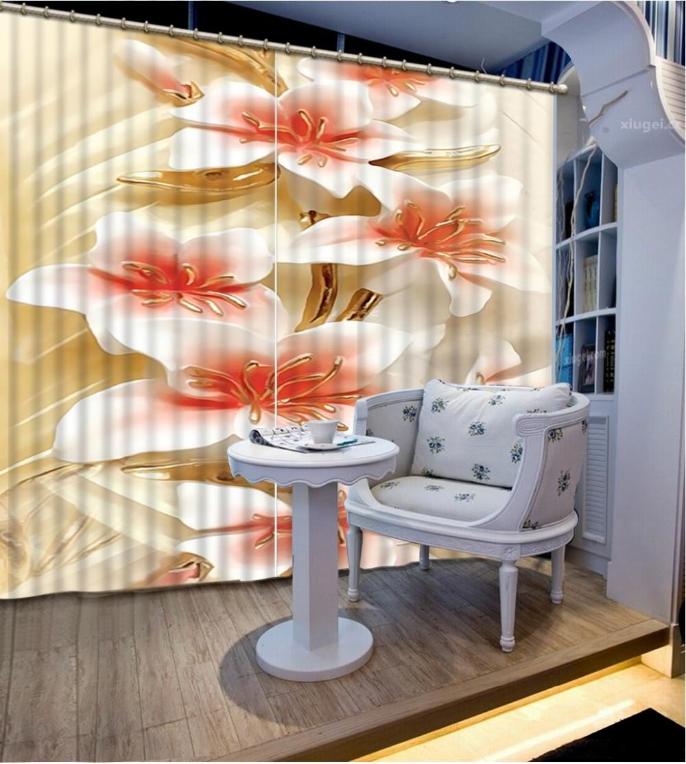 Rideaux pour salon 3D fenêtre rideaux pour literie salle relief 3d curtiens décoration de la maison