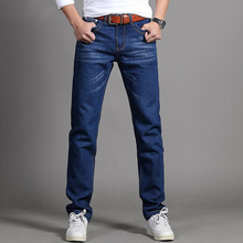 Spring and Autumn casual slim straight pants large size young men's jeans free shipping 2016 spring autumn new arrival men s casual skinny jean slim regular fit straight leg nice cutting large size pants