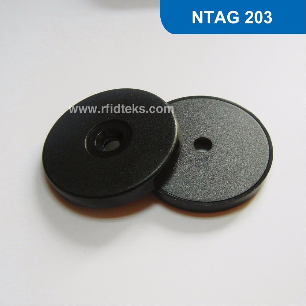 RT40 Dia: 40mm ABS RFID Token Tag, RFID Disc Tag for NFC Mobile Phone ISO14443A 13.56MHZ 144Bytes Ntag 203 Chip free shipping hw v7 020 v2 23 ktag master version k tag hardware v6 070 v2 13 k tag 7 020 ecu programming tool use online no token dhl free
