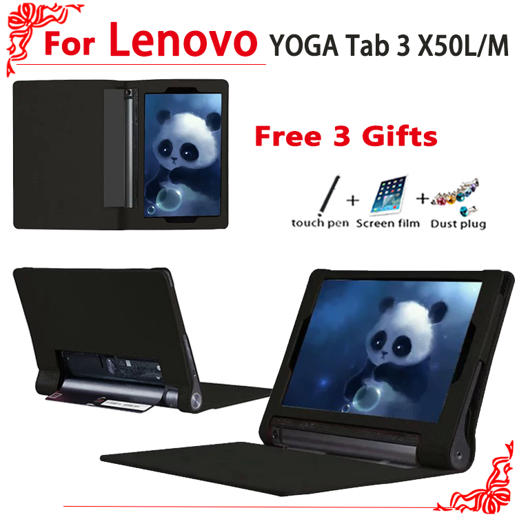 YOGA Tab 3 X50 case Ultra Slim PU Leather Case For Lenovo YOGA Tab 3 X50L X50M Tablet PC case cover + free 2 gifts ultra slim case for lenovo tab 2 a8 50 case flip pu leather stand tablet smart cover for lenovo tab 2 a8 50f 8 0inch stylus pen