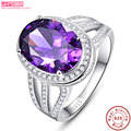 Jrose Huge 10.2ct Purple Amethyst Ring Solid 925 Sterling Silver Oval  Fashion Hot Sale Fine Jewelry For Women Men