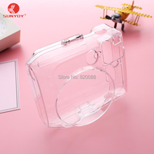 Hot!! Crystal Clear PC Hard Case with Strap for Fuji Fujifilm Instax Mini 70 Camera, Free Shipping(China)