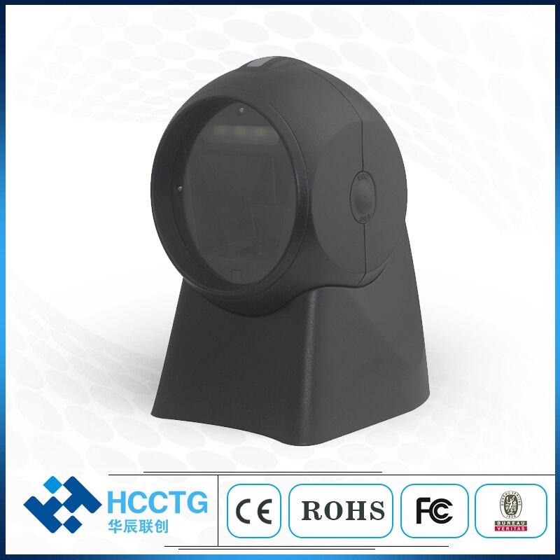 SMOS Omni Directional Scanner 1D 2D Scanner 360° Ticketing QR Code Scanner USB Barcode Reader Desktop 2d scanning platform 7301