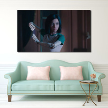 Film Alita Battle Angel 2019 Wall Art Canvas Posters Prints Oil Painting Pictures For Bedroom Modern Home Decor Accessories