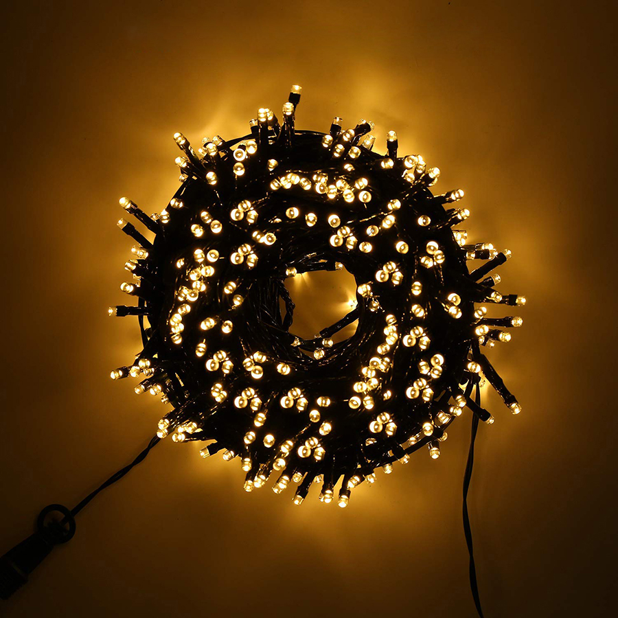 24V Safe Voltage Green Cable 10M 100 LED String Lights Christmas Holiday Lights For Xmas Trees Party Wedding Events Decoration