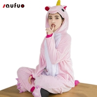 Winter Warm Pyjamas Flannel Unicorn Onesie Adult Women Hooded Pyjama Unicorn Cute Pajamas For Couple Sully