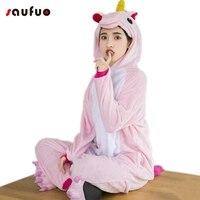 Winter Warm Pyjamas Flannel Unicorn Onesie Adult Women Hooded Pyjama Unicorn Cute Pajamas For Couple Sully