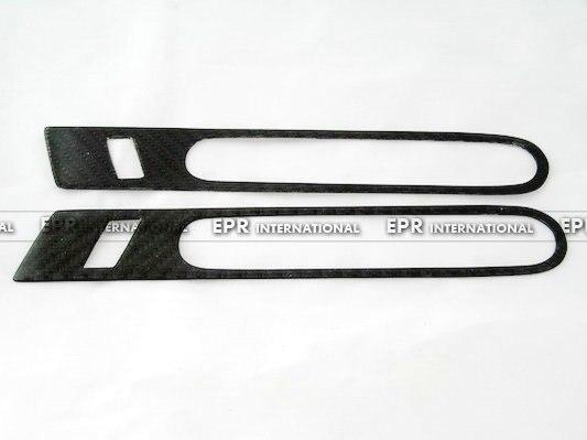For Nissan R35 GTR OEM Carbon Fiber Outer Door Handle Cover Pull Surround 2pcs for nissan skyline r33 gtr rear spoiler gtr logo carbon fiber end cap in stock