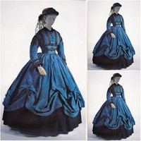 SC-857 Victorian Gothic/Vintage Dress Halloween Theater  dress  Custom made