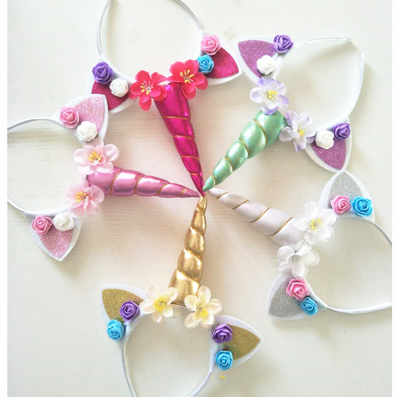 Unicorn Party Favors Unicorn Headband Babyshower Happy Birthday Party Decorations Kids Baby Souvenirs Chirldren Gift Supplies in Party DIY Decorations from Home Garden