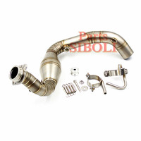 Slip On G310R G310GS Motorcycle Exhaust Tube System Header Link Middle Mid Pipe Without Muffler For BMW G 310 R G310GS