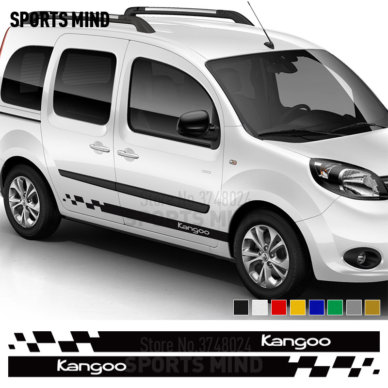 1 Pair Customization Exterior Accessories For Renault Kangoo 4X4 Door Side Strip Car Decal Sticker Automobiles Car Styling