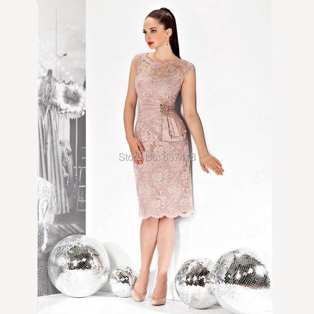 3c7411517c6 Blush Pink Short Knee Length Mother of The Bride Groom Dresses with Plus  Size with Sequins and Beads Robe Mere de Marie