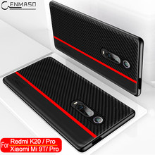 for Xiaomi Mi 9T Redmi K20 Pro Case Original CENMASO Carbon Fiber PU Leather Shockproof Protect Cover for Xiaomi Mi 9T Pro Case(China)