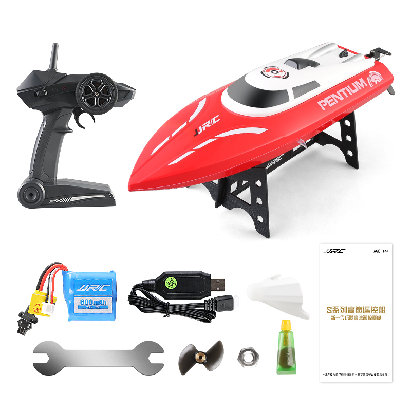 High Speed JJRC S2 Waterproof Turnover Reset Water Cooling 25km/H RC Boat Remote Control Racing Speedboat Air Ship Kids Gifts