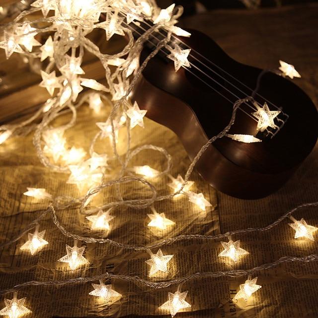 6M 40Leds Fairy Christmas Lights Star Battery LED string lights ...