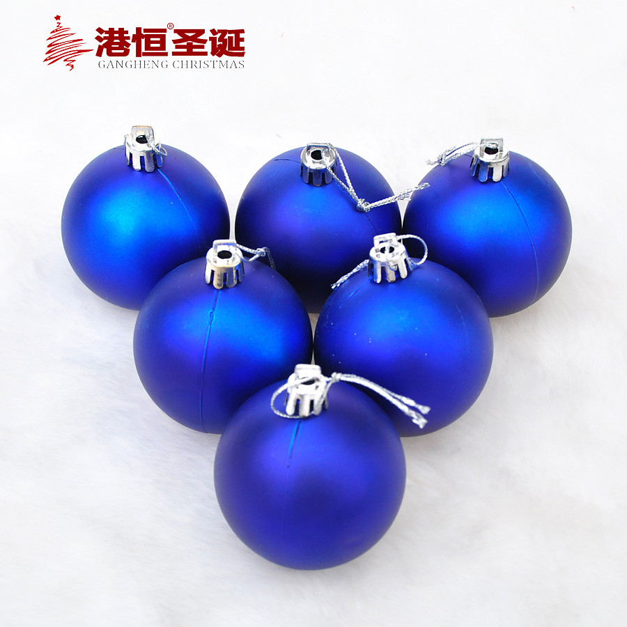 6pcs Christmas 6 8cm Matte Blue Balls Tree Ornaments