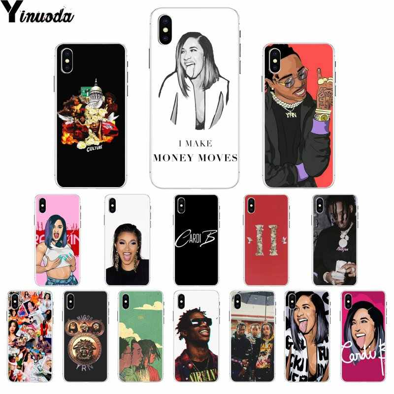 Yinuoda Cardi B Migos Smart Cover Soft Shell Phone Case for Apple iPhone 8 7 6 6S Plus X XS MAX 5 5S SE XR Cover