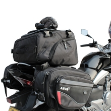 2016 AMU motorrad TASCHE hinten kanten tasche motorrad helmtasche Ritter regen schwanz gepäck taschen OXFORD TUCH
