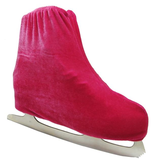 1 pair Ice Skating Figure Skating Shoes Velvet Cover Roller Skate Anti Dirty Flannelette Elastic For Kids Adult Anti Grinding 2