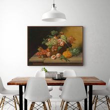 Vintage Home Decorations Flowers Bonsai And Fruits Bird Still Life Oil Canvas Painting For Living Room Wall Art Poster Prints