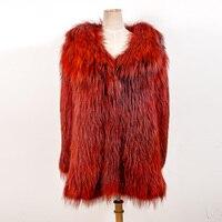 YW18 2018Hot продажи зима толстые Обувь на теплом меху пальто Для женщин лисий мех пальто Высокое качество женский пиджак внешний