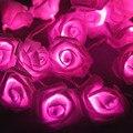 Hot 2017 NOVA Alta Qualidade 50 LED Cor de Rosa Flor Rosa Bateria Operado Luz de Fadas Casamento Quarto Decoração 5 m quente pesquisa