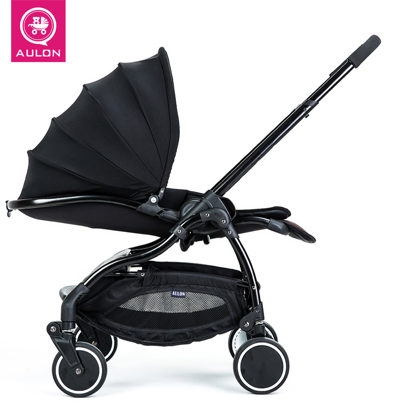 Aulon recounts baby stroller umbrella car light 4runner suspension folding child baby car baby stroller ultra light portable shock absorbers bb child summer baby hadnd car umbrella