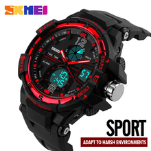 цена SKMEI Luxury Fashion Men Watches Outdoor Sports Watches Waterproof Men Wrist Dual Time Alarm Digital LED Watch Clock Male 1148 онлайн в 2017 году