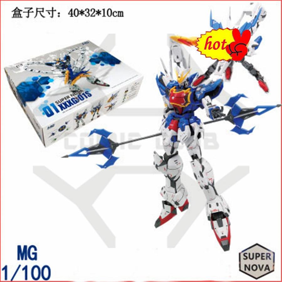 COMIC CLUB INSTOCK Super Nova XXXG-01S2 Altron Gundam model kit bianco blu MG 1/100 action figure giocattolo di montaggio цена
