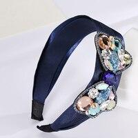 Handmade Women Luxury Rhinestone Sweet Bow Hairbands Crystal Headband Hair Accessory Gift