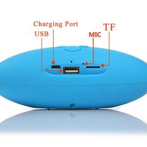 Image 3 - New Mult chức năng Xách Tay Mini Bóng Đá Không Dây Bluetooth Loa Mic HIFI Super Bass Hỗ Trợ USB TF Card Cho Tất Cả điện thoại