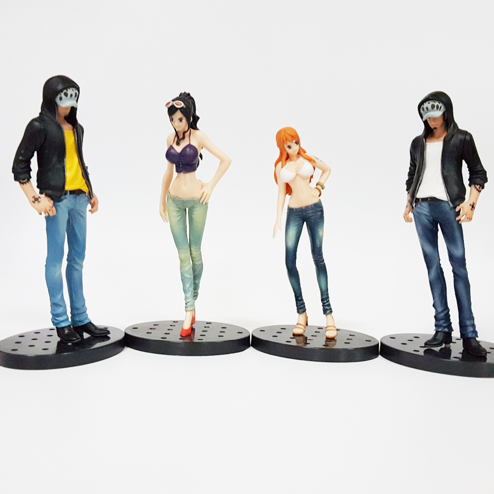 Tobyfancy One Piece Action Figures Law Nami Robin Jeans Style Model PVC Toys Onepiece Anime Toy 17CM