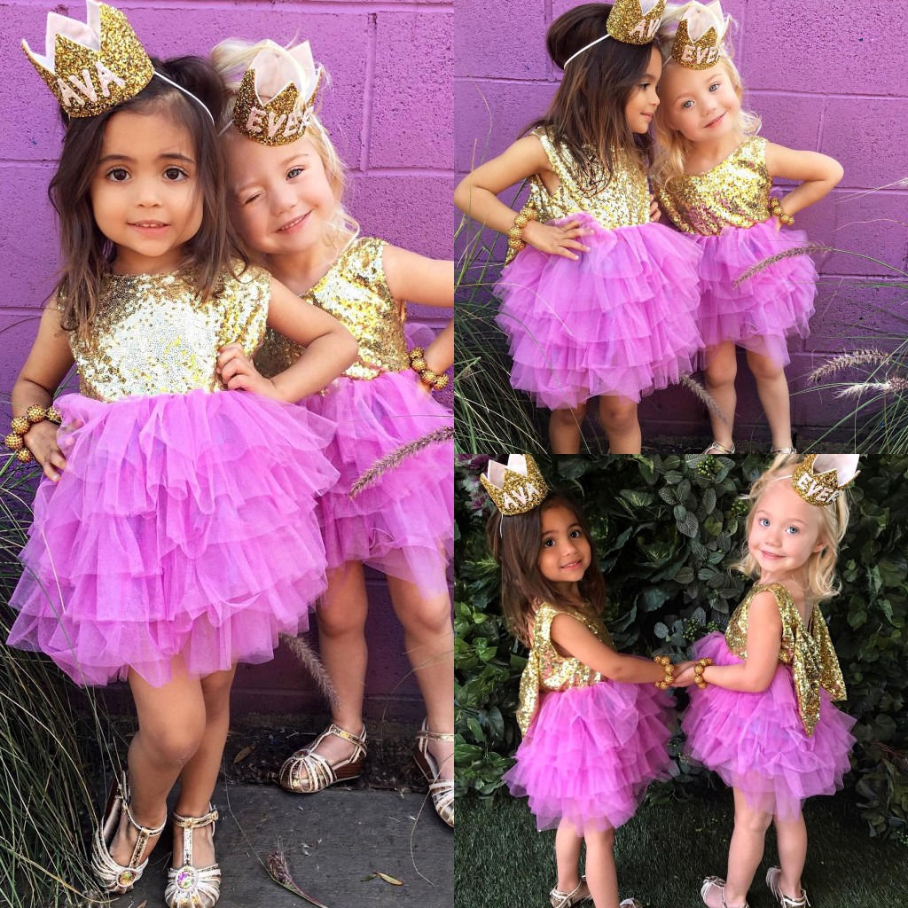 Pudcoco Sequins Toddler Baby Dress Kids Girls Pageant Backless ...