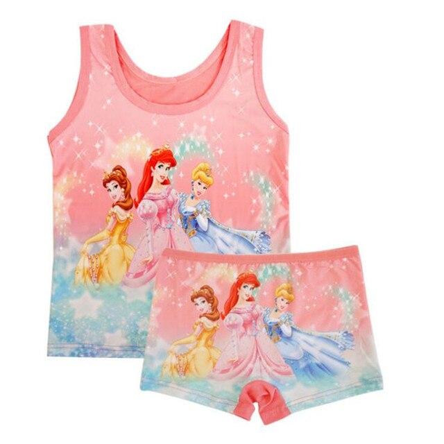 summer Children girls beach set Casual  girl Milk Silk princess vest + short Pants 5color randomly TZ07