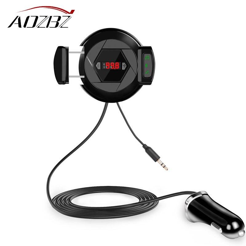 3 In 1 Auto Bluetooth Trasmettitore Fm Per Auto Lettore Musicale Chiamata In Vivavoce Caricatore Usb Con Supporto Del Basamento Del Telefono