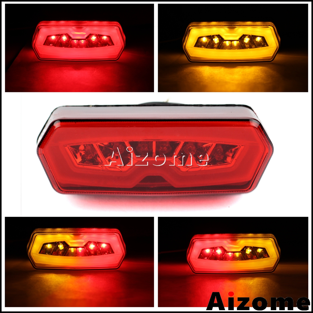 Motorcycle Red Integrated LED Tail Light  W/ Turn Signals For Honda CB650F CBR650F 14-2015 CTX700N 2013-15 MSX Grom 125 13-2016
