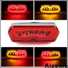 Motocicleta Vermelha LED Integrado Tail Light w/Sinais de Volta Para Honda CB650F CBR650F 14-2015 CTX700N 2013- grom MSX 125 13 15-2016